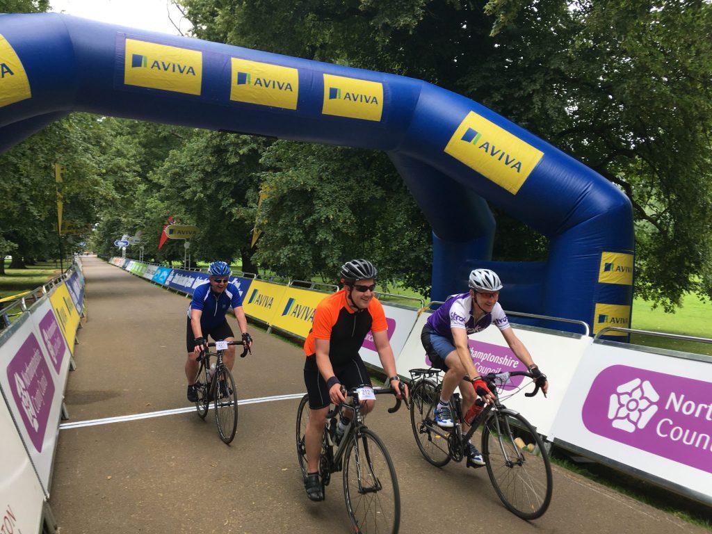 Tour Ride Northampton finish