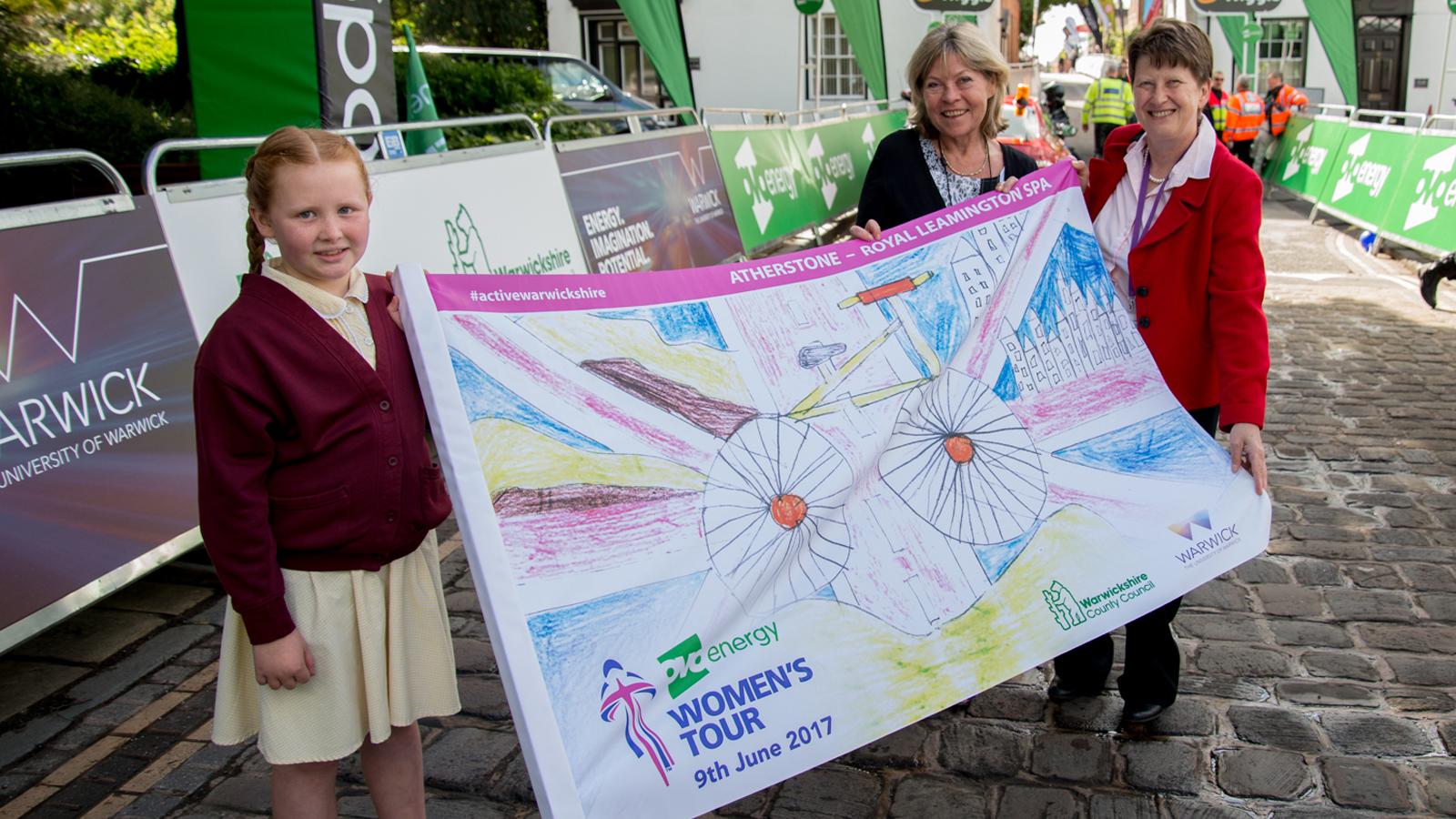 Warwickshire schoolchildren get creative for the OVO Energy Women's Tour