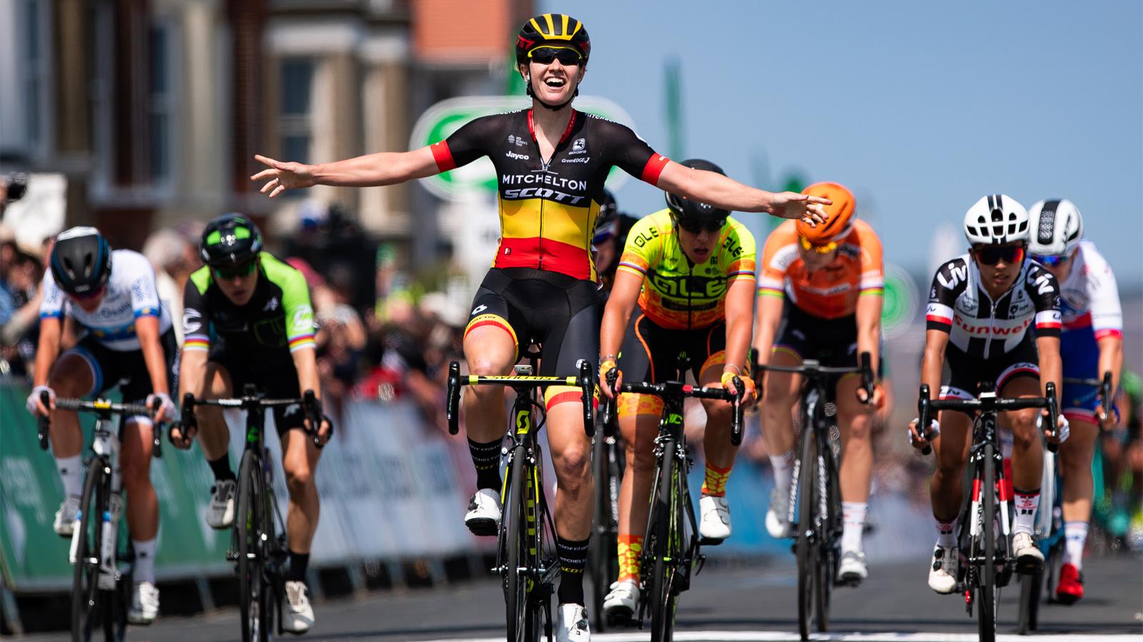 Jolien D'hoore wins OVO Energy Women's Tour opener in Suffolk