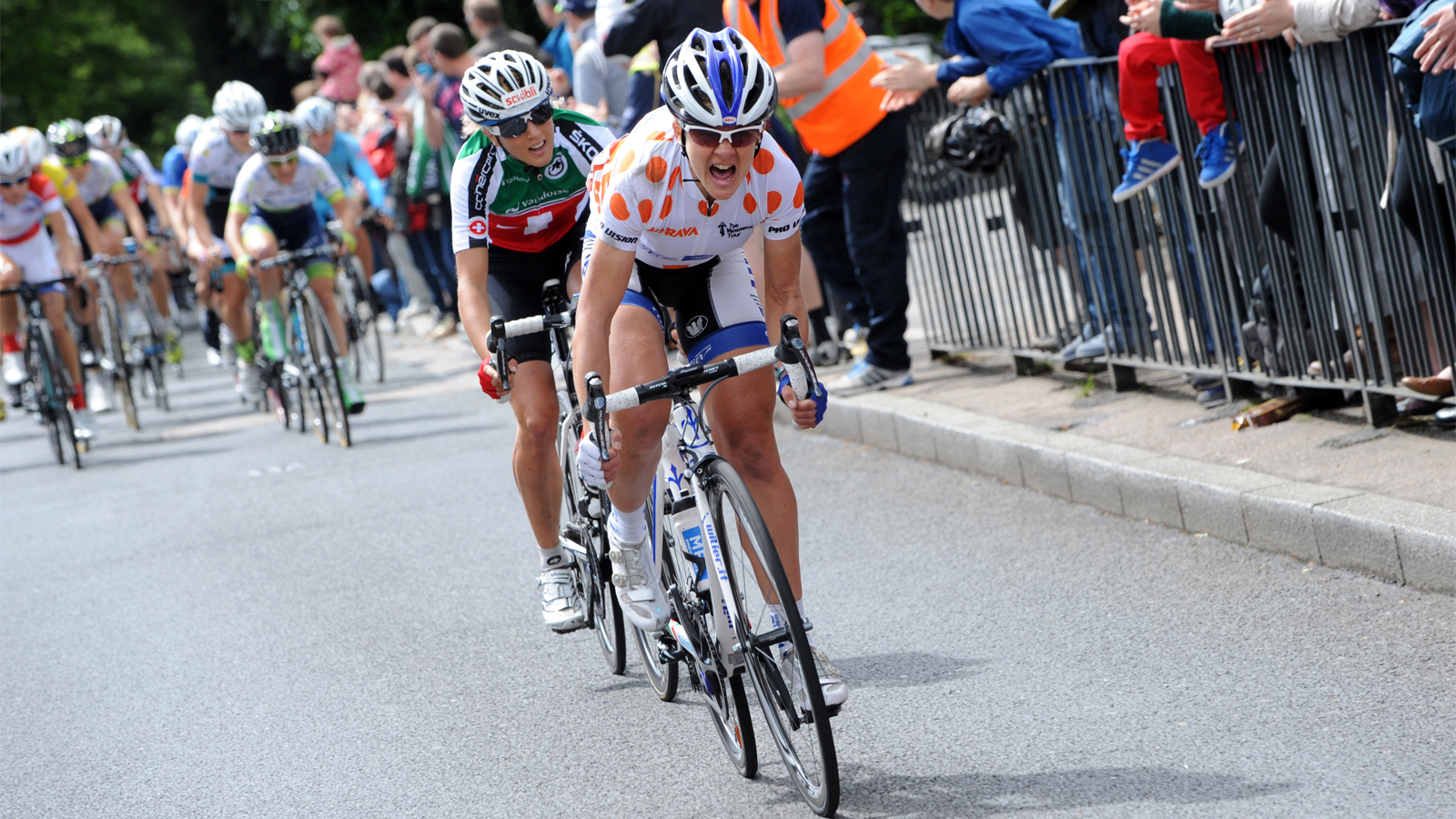 Sharon Laws attacking Women's Tour 2014