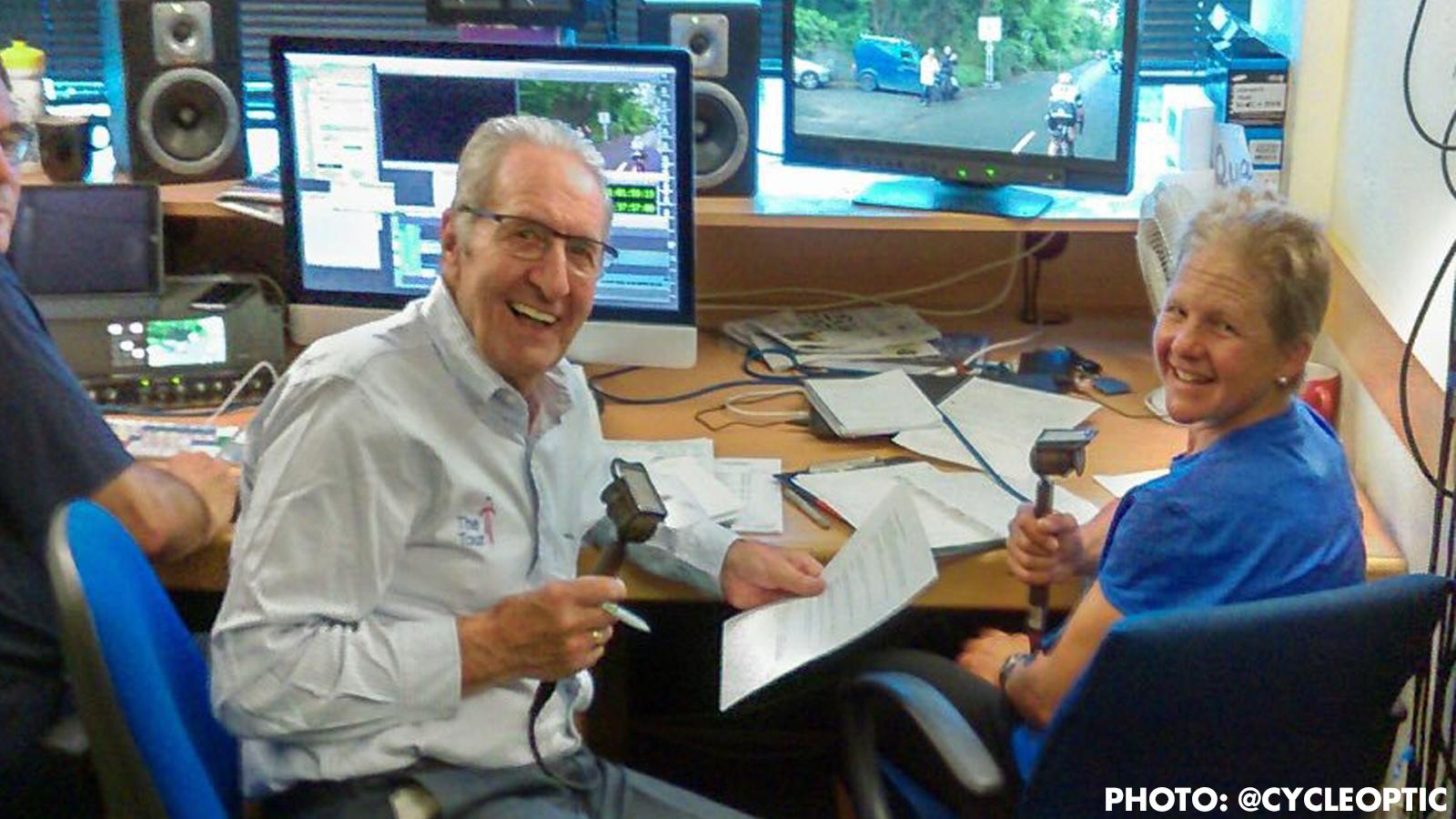 Sharon Laws ITV4 Women's Tour commentator