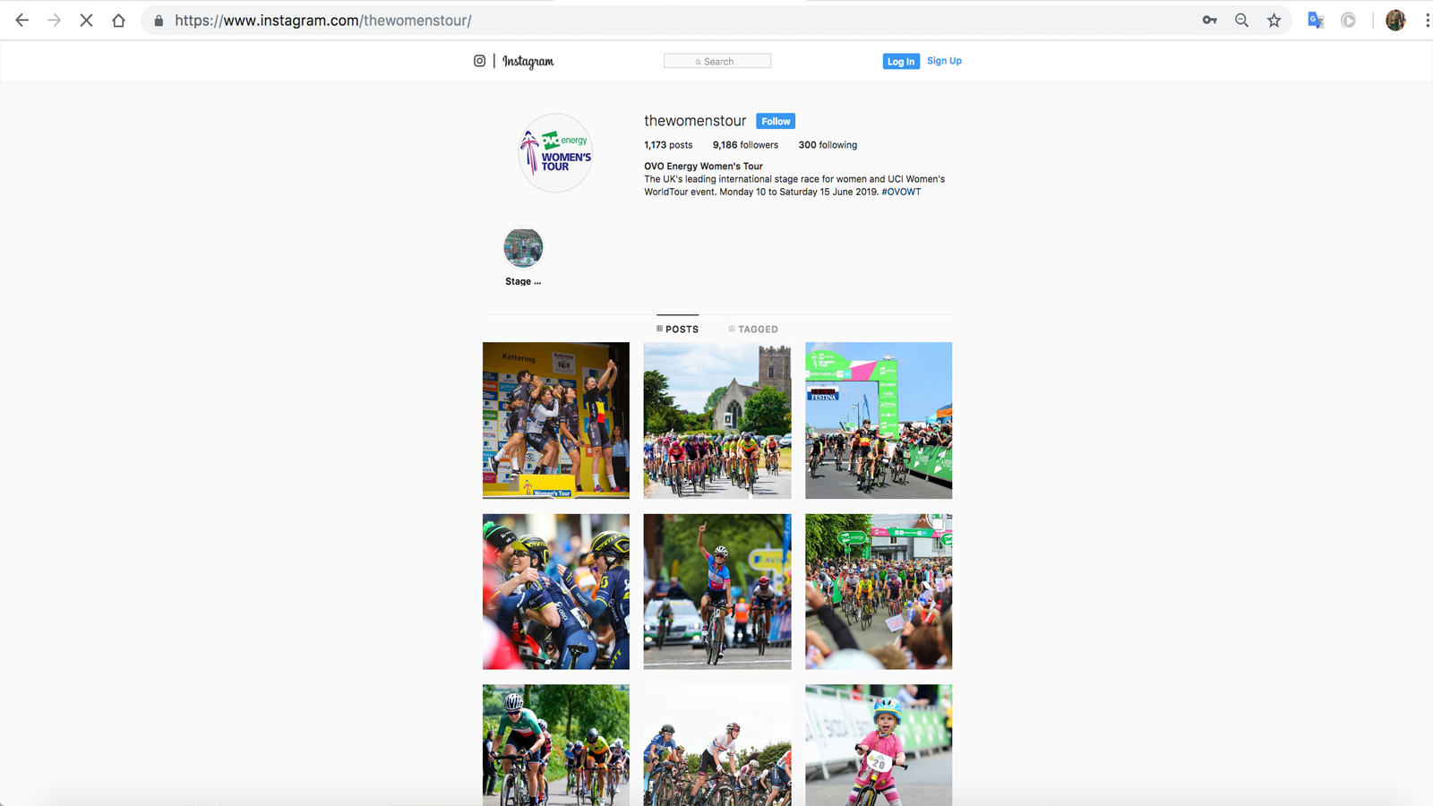 Women's Tour social media instagram