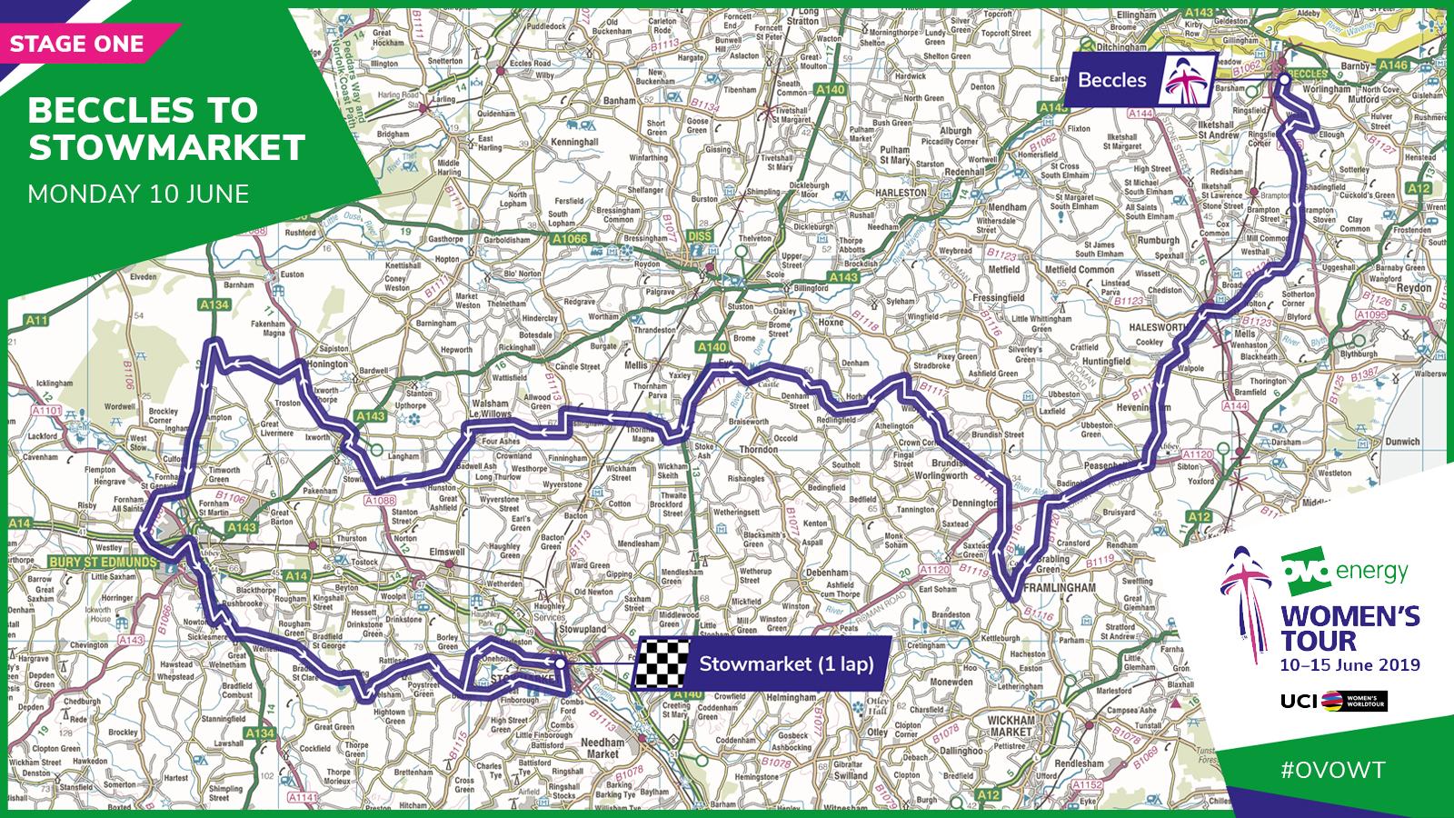 Suffolk Beccles Stowmarket Women's Tour