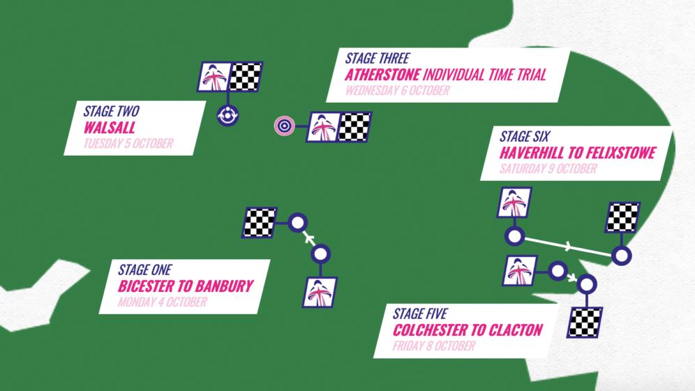 2021 Women's Tour route