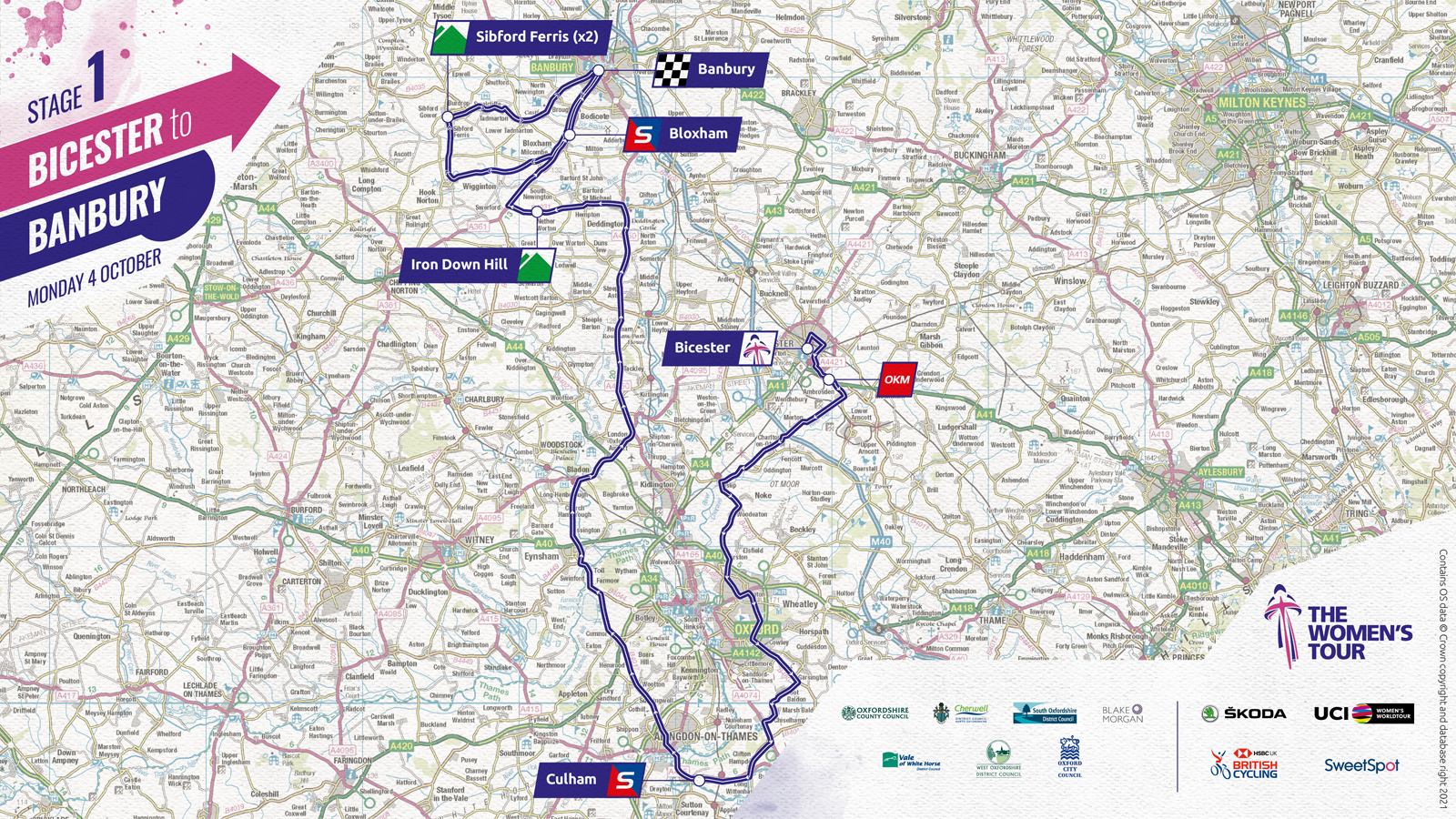 Women's Tour 2021 stage one route