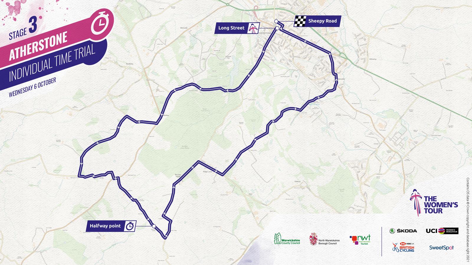 Women's Tour 2021 stage three route