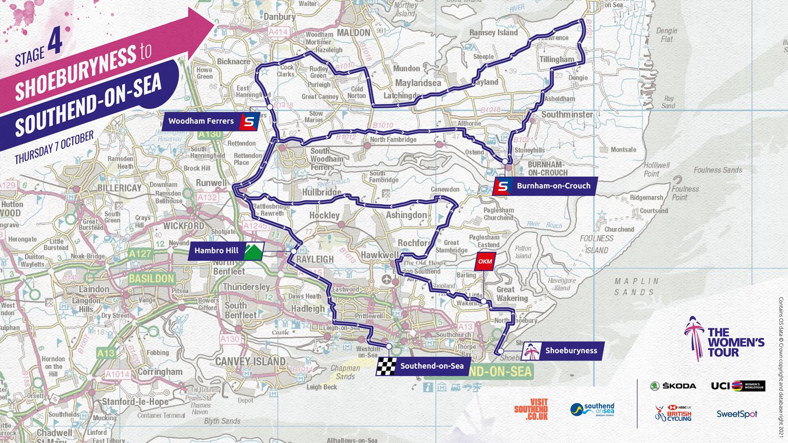 Women's Tour 2021 stage four route