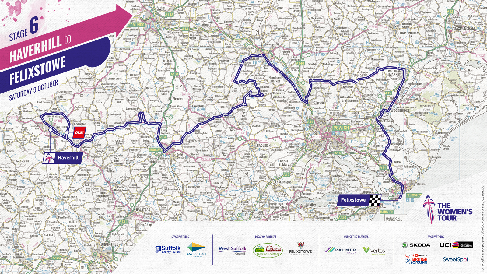Women's Tour 2021 stage six route