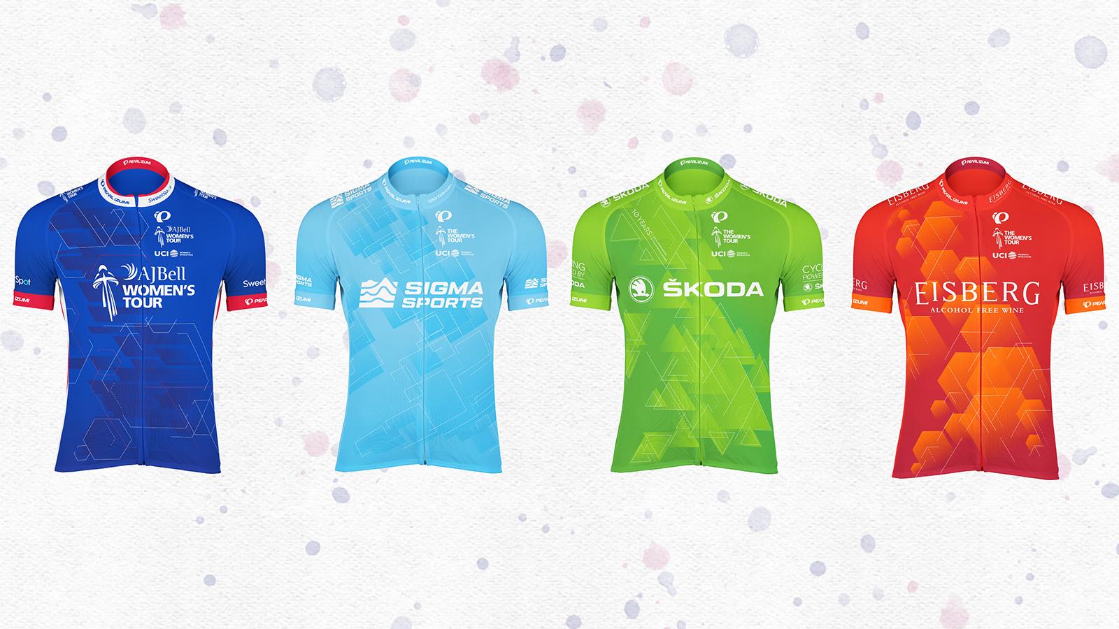 Women's Tour jerseys