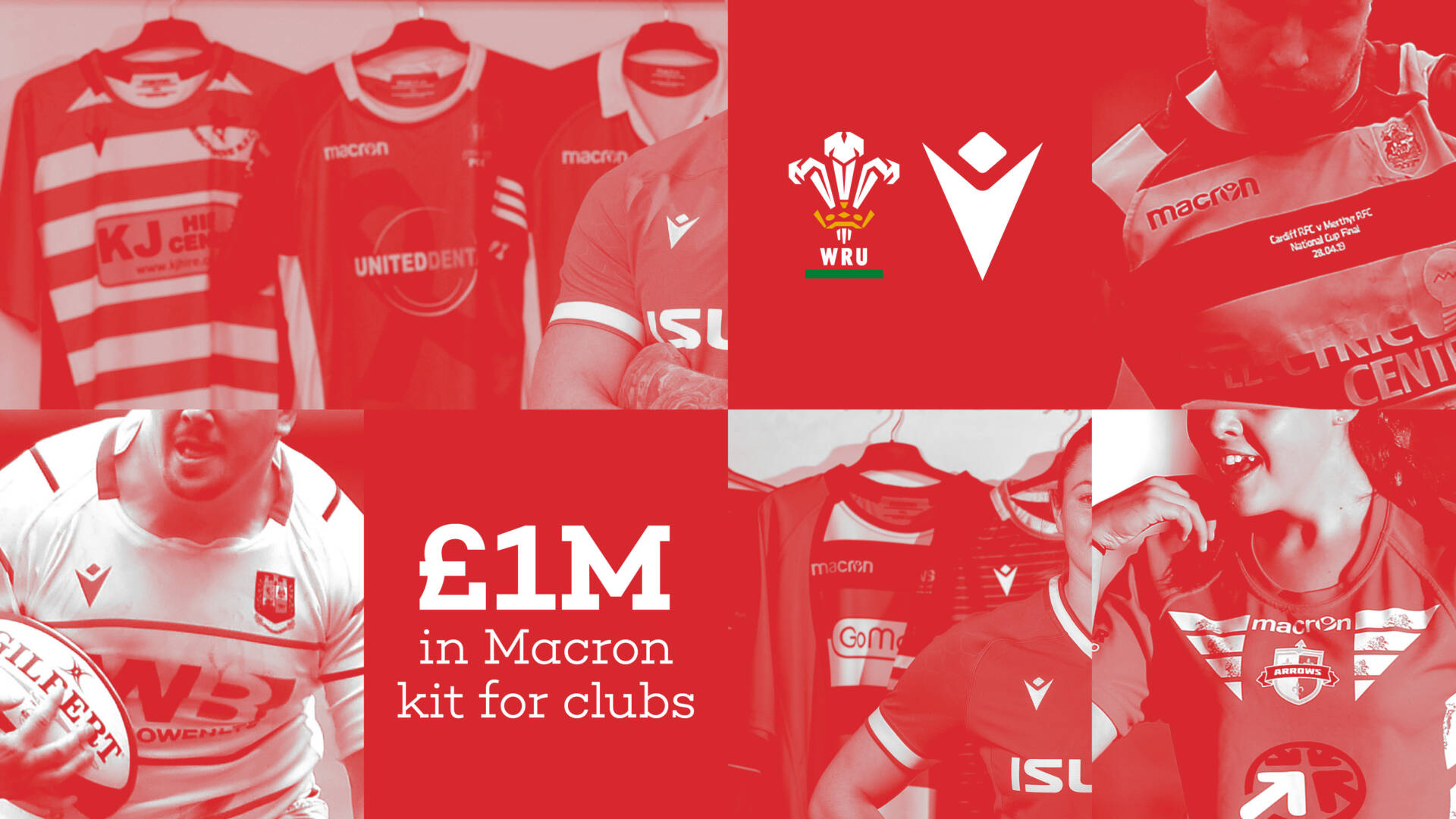 Macron kit for clubs